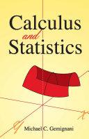 Calculus and Statistics