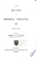 The Record of Zoological Literature