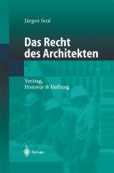 Das Recht des Architekten