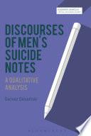 Discourses Of Men S Suicide Notes
