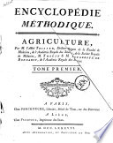 Encyclopedie Methodique Agriculture Tome Premier