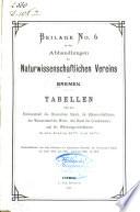 Beilage zu den Abhandlungen des Naturwissenschaftlichen vereins zu Bremen