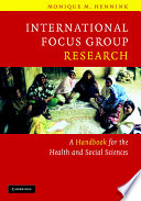 International Focus Group Research book