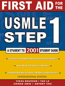 First aid for the USMLE step 1  2001