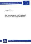 Die westdeutsche Nachkriegszeit im literarischen Original H  rspiel