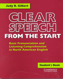 Clear Speech from the Start  Teacher s Resource Book