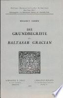 Die Grundbegriffe des Baltasar Gracian