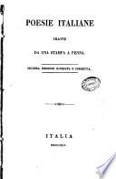 Poesie italiane tratte da una stampa a penna