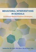 Behavioral Interventions in Schools