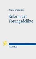Reform der Tötungsdelikte