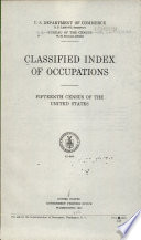 Classified Index of Occupations