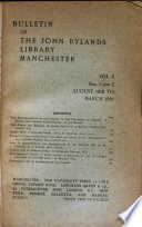 Bulletin of the John Rylands Library