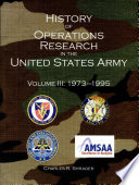 History of operations research in the United States Army  V  3  1973 1995