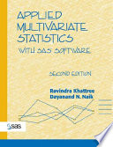 Applied Multivariate Statistics with SAS Software  Second Edition