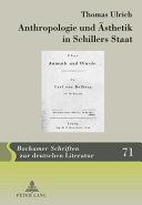 Anthropologie und Ästhetik in Schillers Staat