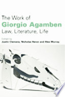 Work of Giorgio Agamben  Law  Literature  Life