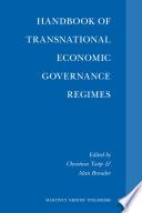 Handbook Of Transnational Economic Governance Regimes