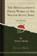 download ebook the miscellaneous prose works of sir walter scott, bart, vol. 1 of 6 pdf epub