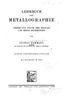 Lehrbuch Der Metallographie