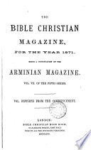 The Bible Christian magazine  a continuation of the Arminian magazine