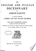 Dizionario italiano  ed inglese  English and Italian