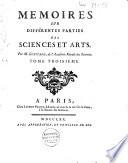 Mémoires sur différentes parties des sciences et arts