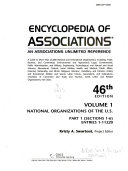 Encyclopedia of Associations V1 National Org 46