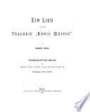 Ein Lied Aus Der Trag Die K Nig Oedipus