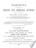 Parodies of the works of English and American authors  collected and annotated by W  Hamilton
