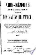 Aide-Mémoire portatif à l'usage des marins de l'État, ou, recueil de tous les commandemens d'infanterie, etc