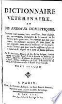 Dictionnaire vétérinaire et des animaux domestiques