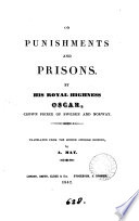 On punishments and prisons  tr  by A  May