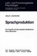 Sprachproduktion