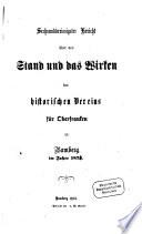 Bericht über den Stand und das Wirken des Historischen Vereins für Oberfranken zu Bamberg