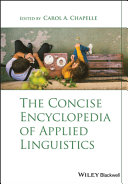 The Concise Encyclopedia of Applied Linguistics Book