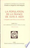 La population de la France de 1670 à 1829