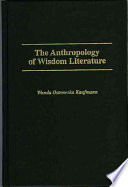The Anthropology of Wisdom Literature