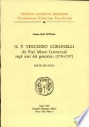 Il p  Vincenzo Coronelli dei Frati minori conventuali negli anni del generalato  1701 1707