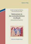 Redeszenen in der mittelalterlichen Grossepik