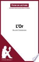 illustration du livre L'Or de Blaise Cendrars (Fiche de lecture)