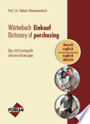 Wörterbuch Einkauf / Dictionary of purchasing (dt.-engl. / engl.-dt.)