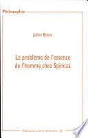 Le probl  me de l essence de l homme chez Spinoza