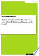 Heimat In Juden Auf Wanderschaft Von Joseph Roth Definition Und Bedeutung Des Begriffs