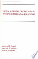 Partial Integral Operators and Integro Differential Equations