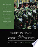 Issues In Peace And Conflict Studies