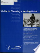 Guide To Choosing A Nursing Home Revised April 2002