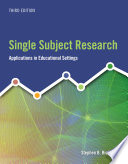Single Subject Research Applications In Educational Settings