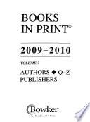 Books in Print 2009-2010