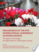 Proceedings of the 8th International Conference on Human Rights
