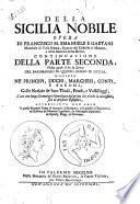 Della Sicilia nobile opera di Francesco Maria Emanuele e Gaetani     Parte prima    terza